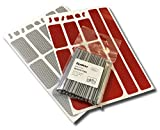JUSMAR Bike Reflector Set - Bike Spoke Reflectors, Red and White Reflector Stickers - Make Your Bicycle More Visible to All Directions in The Dark. Fits to Spokes 14 and 15 Gauge (1.8-2.0mm)