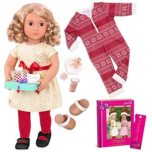 Our Generation Deluxe Holiday Doll with Book - Noelle