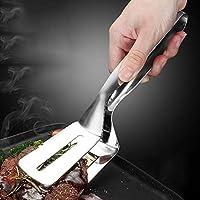 ステンレス鋼フードクリップステーキクリップ食品バーベキュークリップキッチンパンクリップ手グラブケーキシャベル厚いキッチンガジェット
