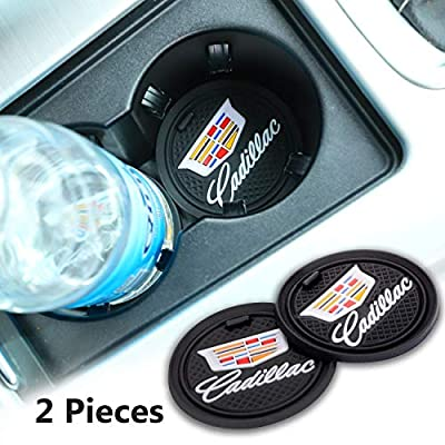 2 Pack 2.75 inch Car Interior Accessories Anti Slip Cup Mat for Cadillac All Models (for Cadillac)