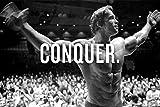 """Arnold Schwarzenegger """"Conquer""""-Poster – A5, A4, A3,"""