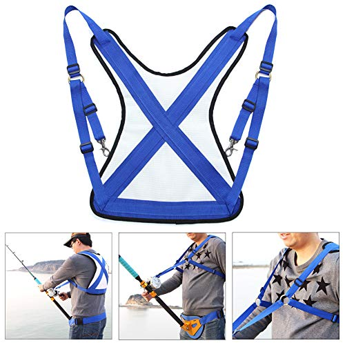 Fishing Shoulder Back Harness, Adjustable Sea Fishing Rod Holder Vest, Offshore Stand Up Fishing Fighting Belt, Distribute Load, Prevent Sprain, Boat Fishing Shoulder Vest Harness for Fishing Big Fish