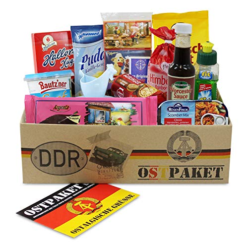 Ostpaket Mini mit 13 typischen Produkten der DDR Spezialitäten Spezialitätenpaket Geschenkset Ostprodukte DDR - Geschenkidee