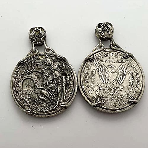 Ada Cryptocurrency Copy Coin 1921 Movable Mechanism holy Grail Favorite Coin Commemorative Coin Silver-Plated Stray Coin Amateur Collectible Coin