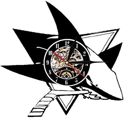 Reloj de pared de vinilo con grabación, reloj de pared interior de la habitación, hecho a mano, de vinilo, 30 cm, reloj de pared para adolescentes, niños y niñas