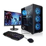 Ordenador PC AMD Ryzen 3 3200GE 4X 3.30GHz (Turbo: 3.80 GHz)• 24' Full-HD • Teclado y ratón Gaming • Windows 10 • 240GB SSD • 8GB DDR4 2400 • PC Gamer • Ordenador de sobremesa