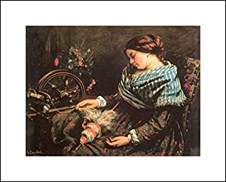 Gustave Courbet 20x16 Art Print - The Sleeping Spinner