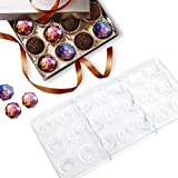 Jeteven Chocolate Candy Jelly Bonbon Making Mold, Non-stick PC Polycarbonate Mould Tray (Diamond)