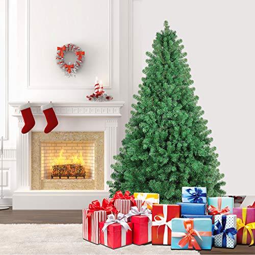 SHareconn Albero di Natale Artificiale Pino, Supporto in Metallo, Facile Montaggio, PVC, 198cm