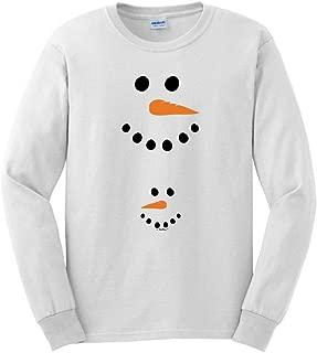 Pregnant Snowman Belly Maternity Themed Long Sleeve T-Shirt