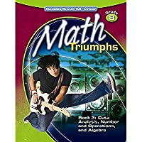 Math Triumphs Grade 8 Student Study Guide Book 3: Data Analysis Number and Operations and Algebra (MATH INTERVENTION (K-5))【洋書】 [並行輸入品]