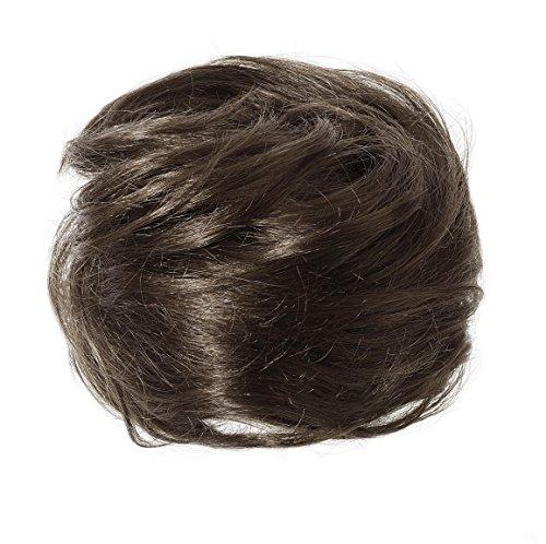 American Dream Luxueux Chignon 100 % Cheveux Humains Couleur 2 Brun Foncé Grand