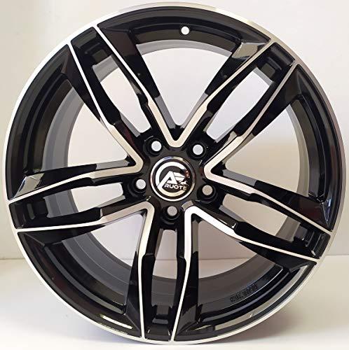 1 AF16 Llantas de Aleación NAD 7,5 17 5X100 36 57,1 Compatible Con Audi A1 Seat Ibiza VW Polo Golf 4 el Cruce en T Negro Brillante Diamante