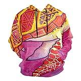 Casual Hoodie with Pocket Hooded Sweatshirt Long Sleeve Pullover Graphic Print Trippy Ocean Turtle Cute