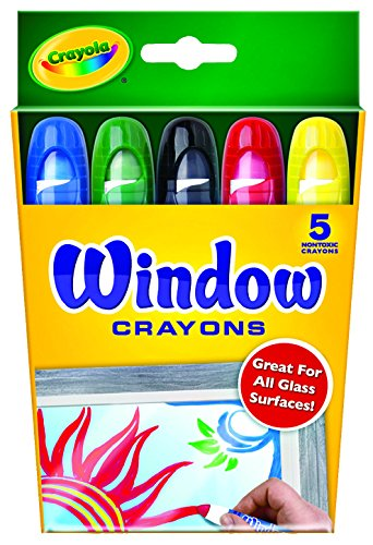 Crayola Washable Window Crayons - 5-count