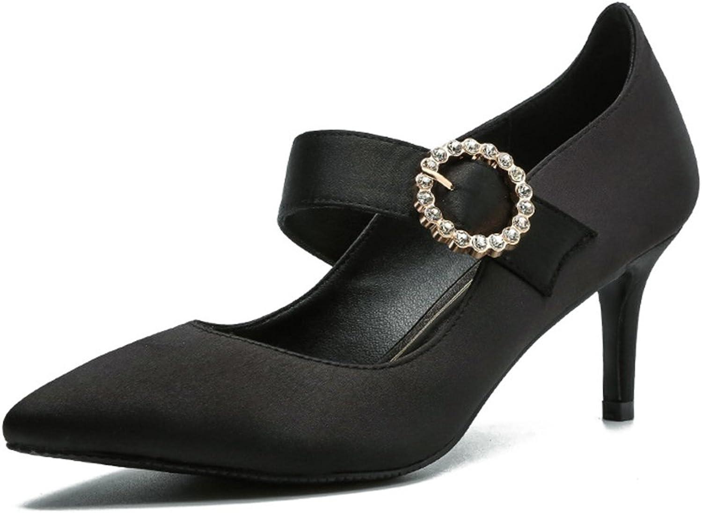 YUBUKE Women's Formal Evening Dance Rhinestones Classic Low Heel Pumps shoes New Sandals shoes