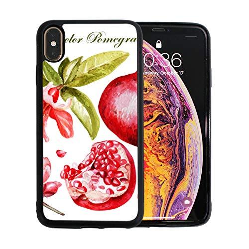 WYYWCY Durian-Frucht mit Blättern und Blumen Apple-Telefon Xs Max-Fall-Schirm-Schutz TPU Hard Cover mit dünnem stoßfestem Stoßfänger-Schutzfall für Apple-Telefon Xs max