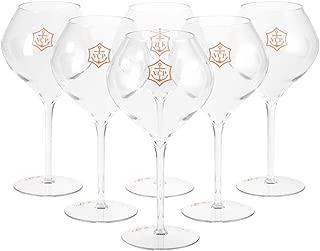 Veuve Clicquot Champagne Glasses Acrylic Rich Box Set Yellow Glass Flute (6 pcs)