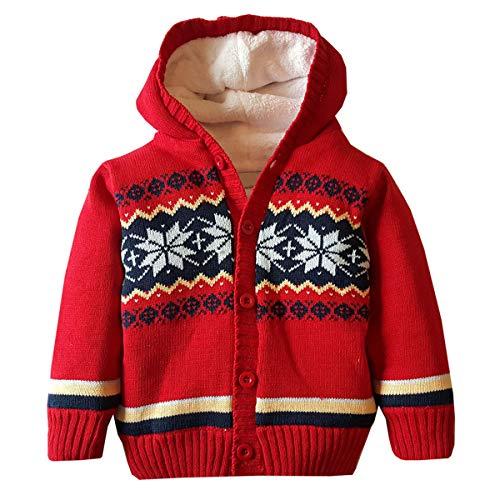 Sudadera con capucha para bebés y niñas - rojo - 3-4 años