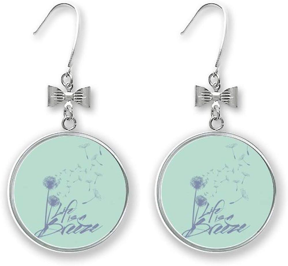 Dandelion Bargain Flowers Plants Illustration Bow Earrings Stud Mail order Drop Pie