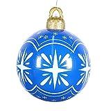 Bolas de Navidad hinchables de PVC, 23,62 pulgadas, decoración de árbol de Navidad, Navidad, vacaciones, boda, decoración del interior, festival, regalo de Navidad