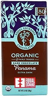 Equal Exchange, Organic Panama Extra Dark Chocolate Bar Whole Trade Guarantee, 2.8 Ounce Pack of 12
