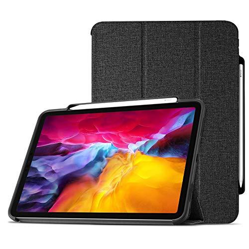 ProCase iPad Pro 11 2020 2018 Case with Pencil Holder, Premium Protective Folio Case Book Cover, for iPad Pro 11 Inch 2nd Gen / 1st Gen –Black