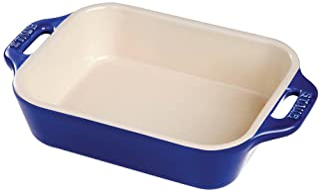 STAUB Ceramics Rectangular Baking Dish, 13x9-inch, Dark Blue