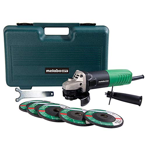 Metabo HPT Angle Grinder | 4-1/2-Inch | Includes 5 Grinding Wheels & Hard Case | 6.2-Amp Motor | Compact & Lightweight | 5-Year Warranty | G12SR4