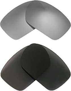 Walleva Titanium + Black Polarized Replacement Lenses For Oakley Turbine Sunglasses