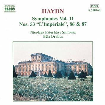 HAYDN: Symphonies, Vol. 11 (Nos. 53, 86, 87)