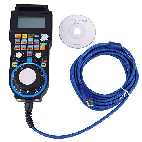 4 Axis 5M Wired USB Handwheel for Mach3 System Electronic Handwheel 100PPR Pulse Generator CNC Handwheel Controller for Engraving CNC Machine