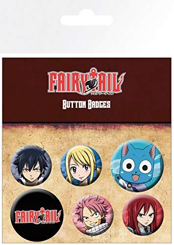 1art1 Fairy Tail - Characters Set di Badge (15 x 10cm)