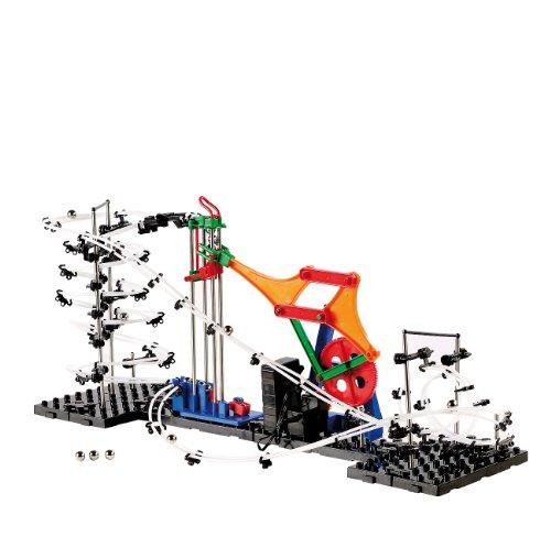 Playtastic Konstruktionsspielzeug: Kugel-Achterbahn Schwierigkeitsstufe I, 226 Teile (Rollercoaster Technik-Bausatz)