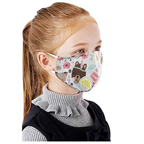 Reutilizables Protección Antipolvo Infantil Niños Lavables Activado Carbón Filtros Contaminacion Algodón Reutilizable Ajustable Deportiva Elástico Bufandas 1PCS