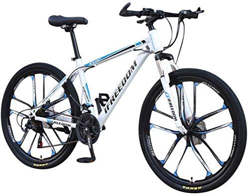 DALUXE Dirt Bike VTT Vélo De Course Hommes Vélo 21 Vélo VTT Filles Vitesses Pouces Étudiant 26 Extérieur,Bleu