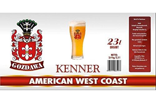 GOZDAWA American West Coast - 3,4 kg Bierkit zum Bier brauen bis 23 Liter Braukit - untergärig