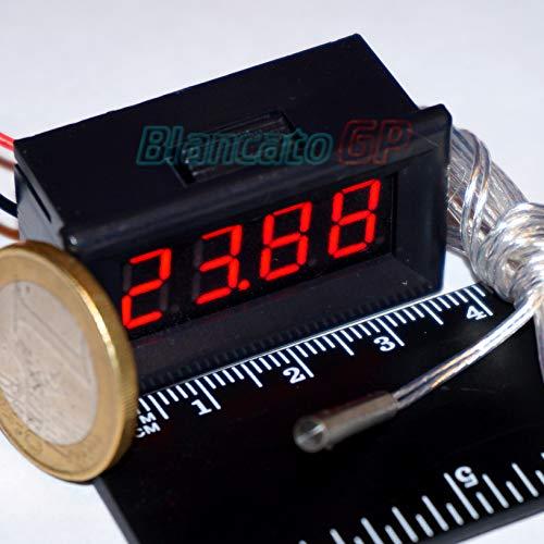 Mini Digitales Thermometer, für Paneele, LED, Rot, -200–450 °C, PT100, Auto, Motorrad, Wohnmobil