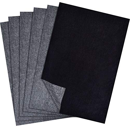 ZAK168 100 Blatt A4 Carbon Papier Handkopie Carbon Transfer Papier Durchschlagpapier für Holz, Papier, Leinwand, Schwarz , Free Size