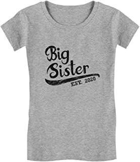 Girls Big Sister Est 2020 Sibling Gifts Infant Girls' Fitted T-Shirt