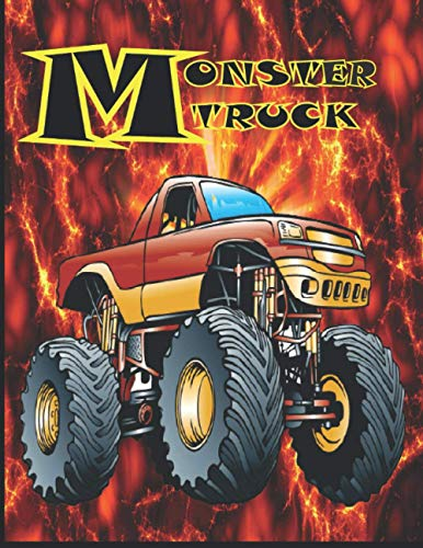 Monster Truck: Coloring Book for Kids Ages 4-8
