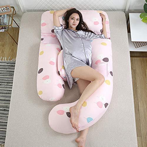 Chunjiao Mutterschaftskissenkissen Baumwolle Doppelschicht Gaille-Taille Seitenkissen G-Typ-Stillenkissen 180 * 115 * 75cm Traum-Traum-Trip-Fan U-förmiges Kissen