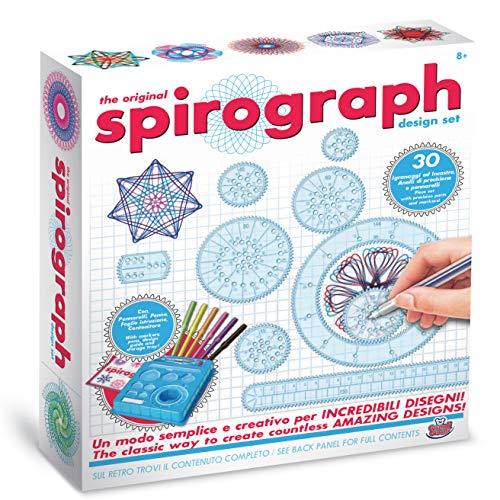 Grandi Giochi- Spirograph Set Box, Multicolore,...