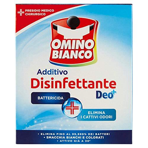 Omino Bianco Additivo Disinfettante in Polvere per Bucato, Smacchia e Elimina i Cattivi Odori, con Tecnologia Deo+, 450 g