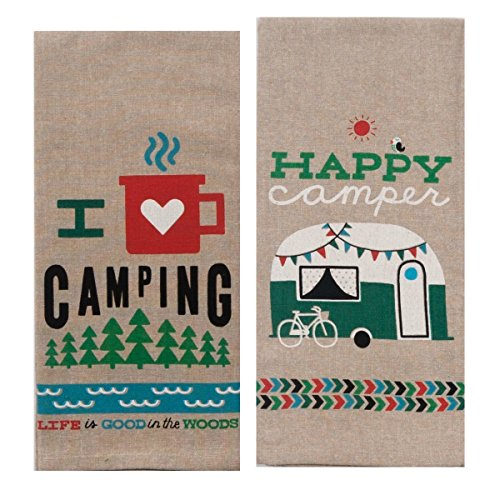 Product Image 5: 18th Street Gifts Happy Camper Dish Towels and Salt Pepper Set, 4 Piece Set of Camping Decor for RV