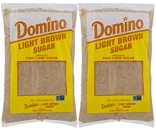 Domino Light Brown Sugar 2 LB (32 oz), Pack of 2