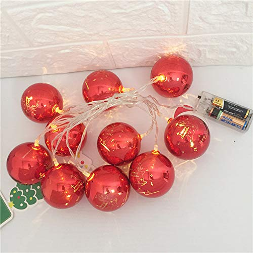 YLSMN Weihnachten führte Schneeballballschnur-Parteidekorationslichter geschenk für freund heizstrahler
