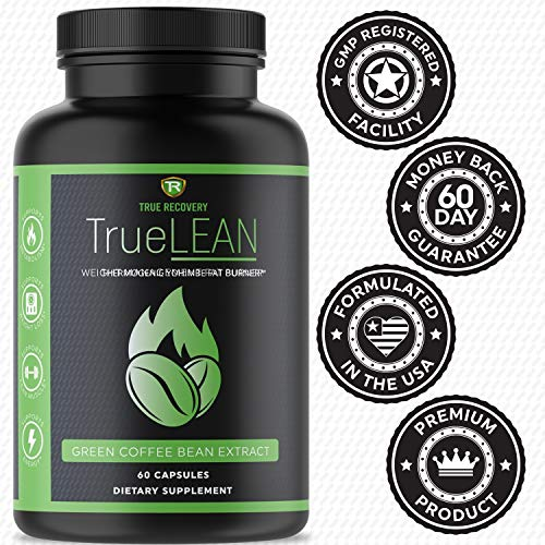 True Recovery TrueLEAN Green Coffee Bean Extract Fat Burner & Detox - Lean Body, Energy & Metabolism Booster, Appetite Suppressant and Carb Blocker - 60 Weight Loss Pills for Men and Women 4