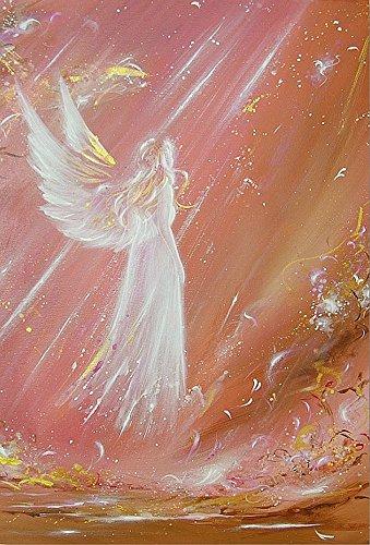 Henriettes-ART Engelbilder - Original Künstler Kunstfoto: Einen Engel getroffen Schutzengel Bilder, Foto Kunst für Bilderrahmen, Wandbild Engel