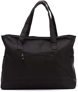 Nylon Large Tote Bags Water Resistant Lightweight Handbags Travel Shoulder Bag for Men with Zipper
